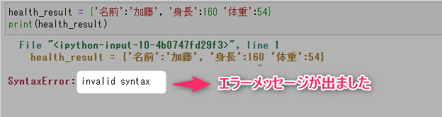 invalid syntax 意味