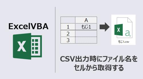エクセルマクロ_CSV出力時にファイル名をセルから取得_アイキャッチ
