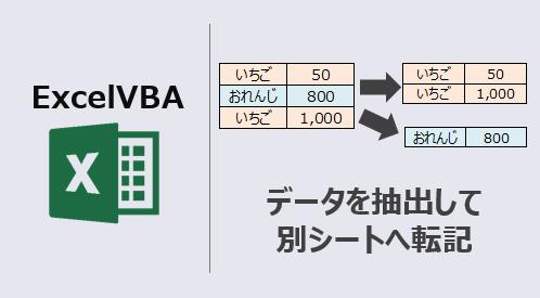 ExcelVBA_データ抽出し別シート転記-アイキャッチ