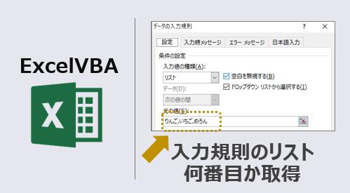 ExcelVBA-入力規則リスト何番目か取得-アイキャッチ