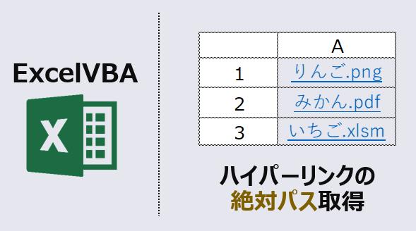 ExcelVBA-フハイパーリンクのアドレス取得-アイキャッチ