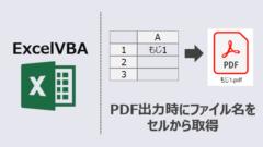ExcelVBA-PDFのファイル名をセルから取得して保存-アイキャッチ
